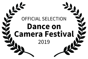 Laurel logo. Text reads: Official selection. Dance On Camera Festival 2019.