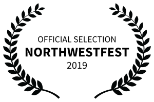 Laurel leaves frame text that reads: Northwest Fest 2019 Official Selection. Edmonton Alberta.